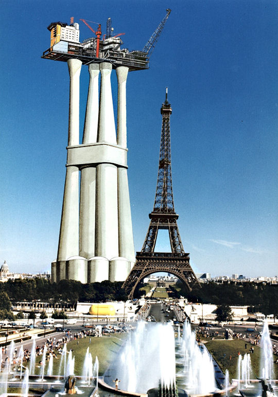Oil Rigs Can Be As High As The Tallest Buildings In The