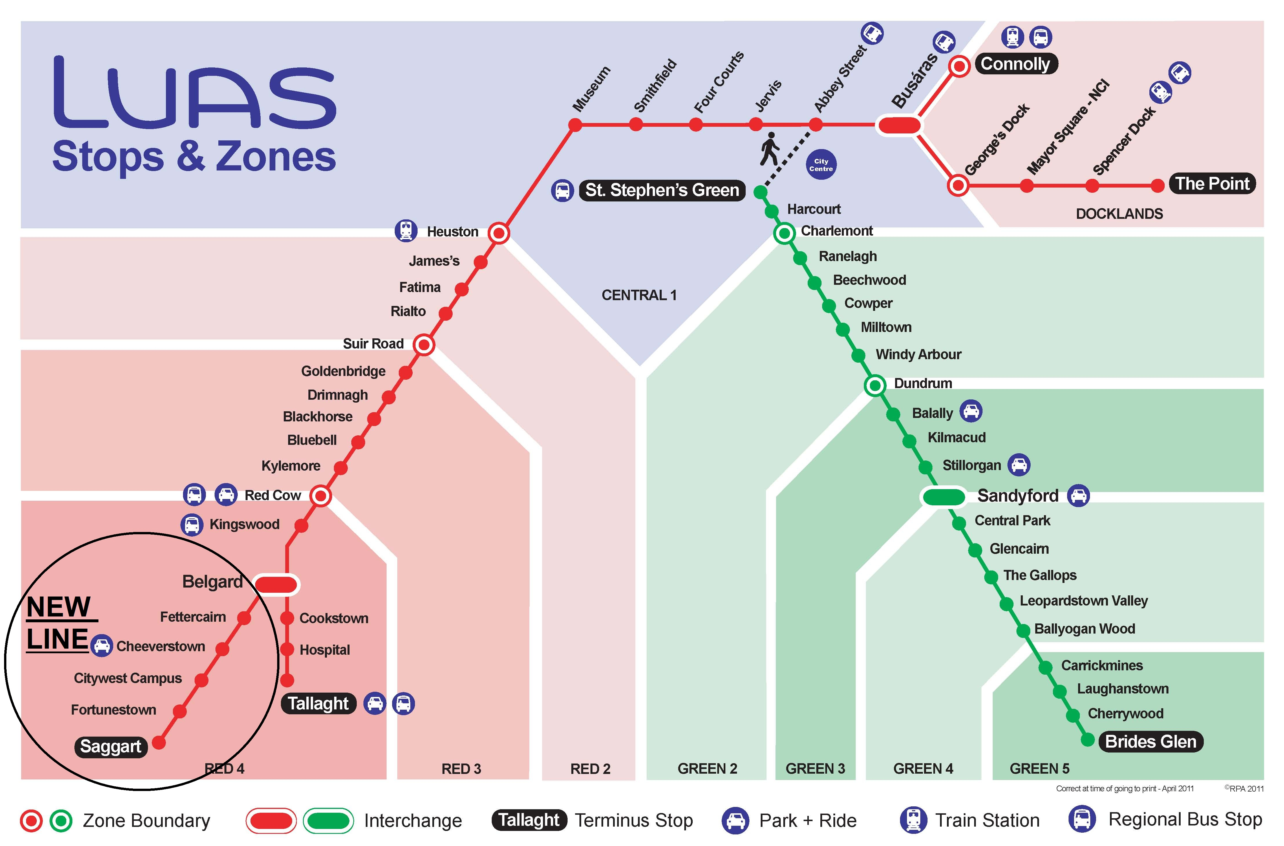 luas route map . extension to dublins luas red line open but is it too long – the