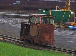 Irish bog railway loco