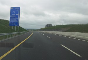 1. 500m junction warning sign for Moneygall on the M7
