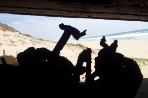 Gunners view of beach from H667 bunker