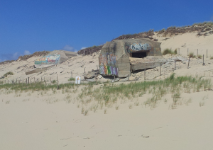 Bunkers viewed from beach