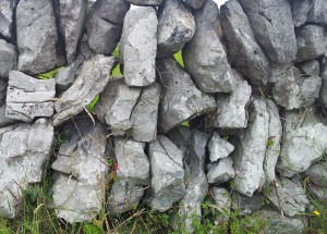 Irish dry stone walls. Gaps.