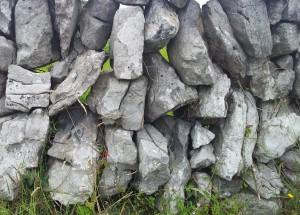 Irish dry stone walls. Gaps.