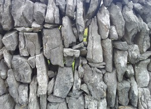 Irish dry stone walls. Tall and narrow.
