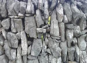 Irish dry stone walls. Tall and narrow.