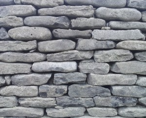 Irish dry stone walls. Tightly packed.