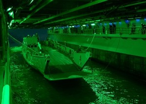Internal harbour of USS Wasp
