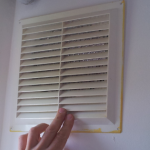 Vent with cover on