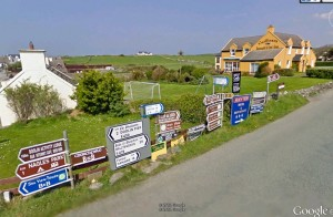 Too much information. Doolin in County Clare (from Google Earth)