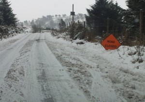 Road closed - snow