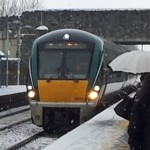 Irish Rail MDU MK22000 entering station