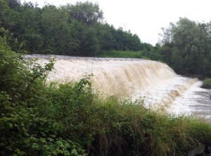 Balrothery Weir. Side View.