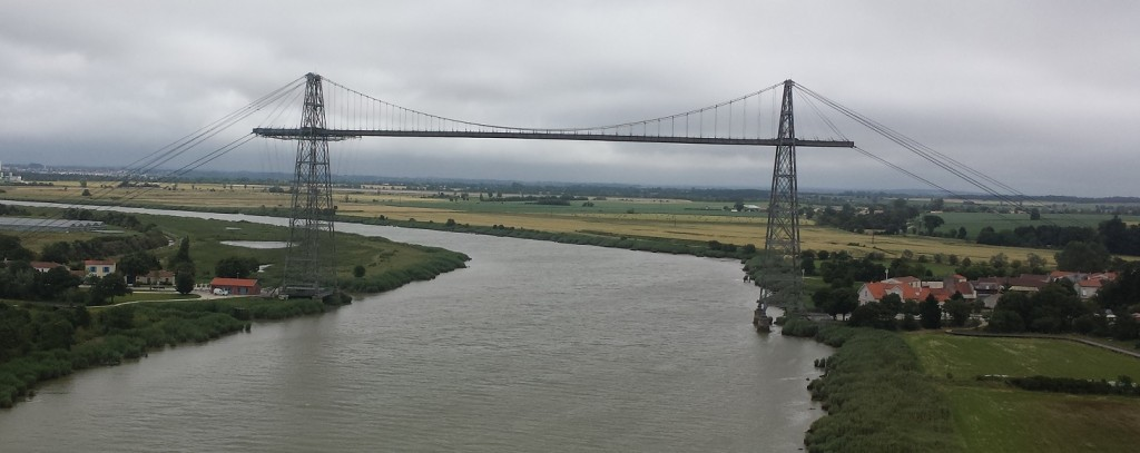 Rochefort Transporter Bridge from new bridge