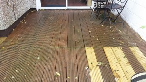 Slippy decking - before