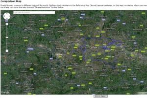 Dublin v London footprints