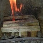 kindling for timber fire