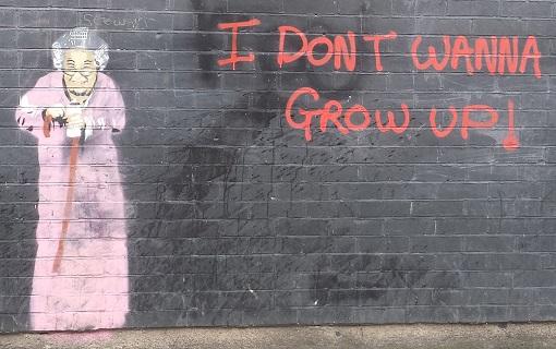 More Dublin graffiti - Old women