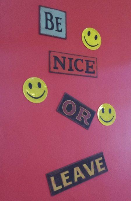 Sign in Dublin coffee shop - Good advice