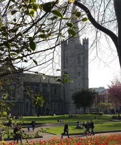 Dublin's St Patrick's Catheral in Spring