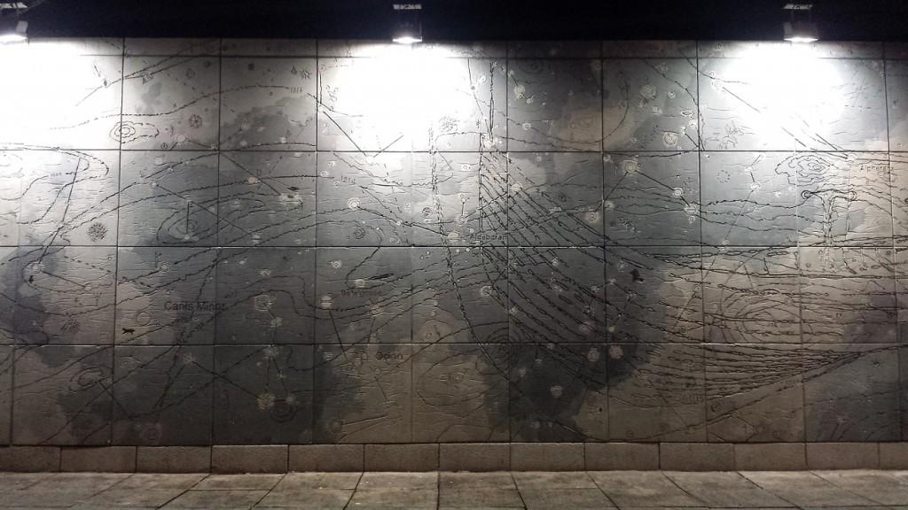 Dublin at night - Street star map (useful art?)