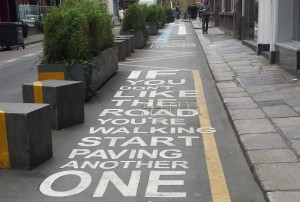 Message on a Dublin Street