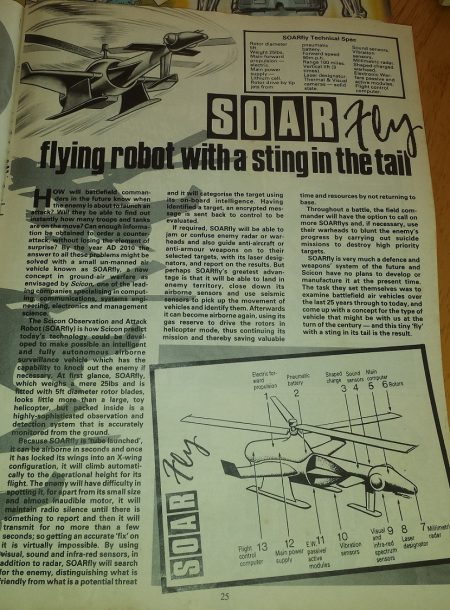 Drones predicted in the 1980's