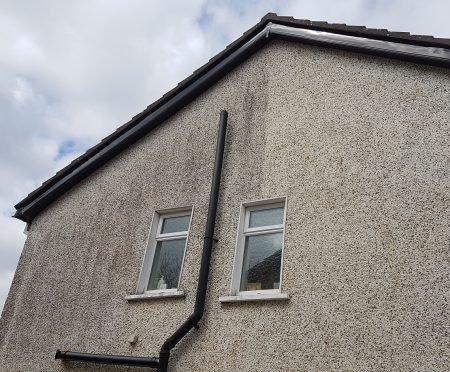Gable wall render cleaned