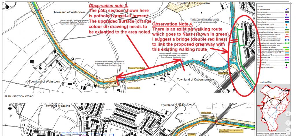 Observations Sheet 2 - Grand Canal green way - County Kildare