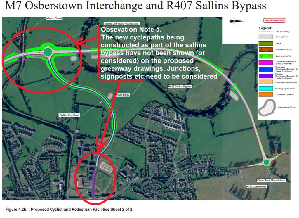 Observations Sheet 3 - New cycle-paths being constructed with Sallins bypass